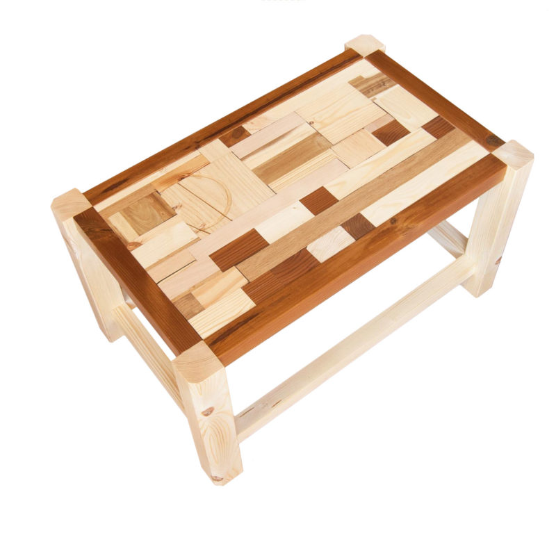 Mixed woods coffee table
